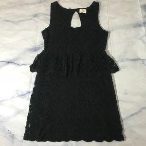 Pins & Needles Urban Outfitters Lace Peplum Dress